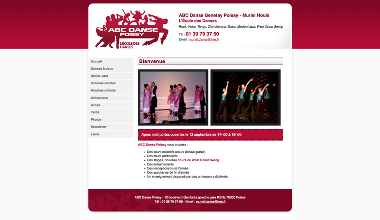 Site web abcdanse-poissy.com