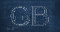 Blueprint du logo GB